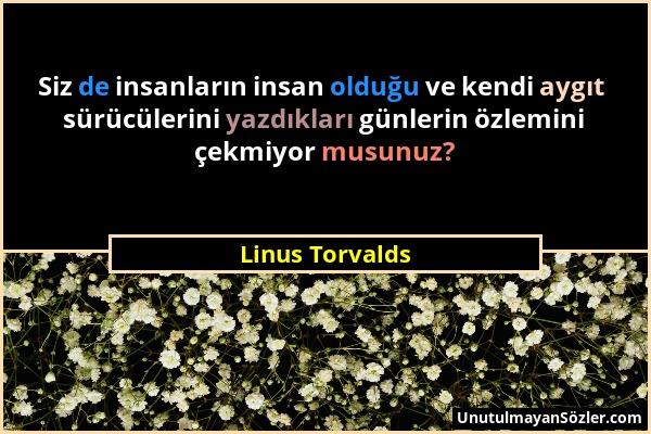 Linus Torvalds Sözü 1