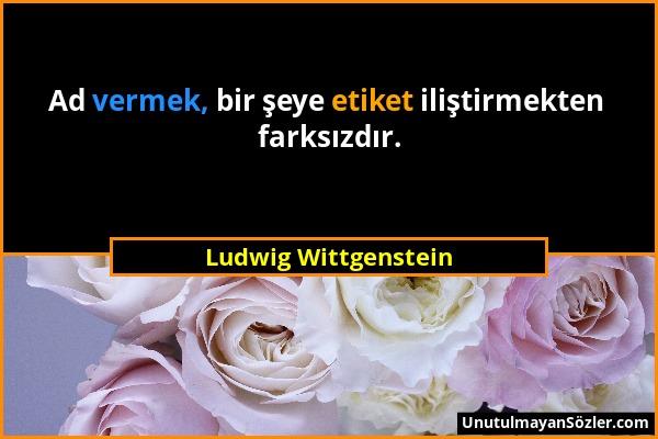 Ludwig Wittgenstein Sözü 1