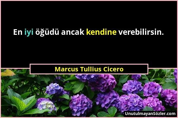 Marcus Tullius Cicero - En iyi öğüdü ancak kendine verebilirsin....