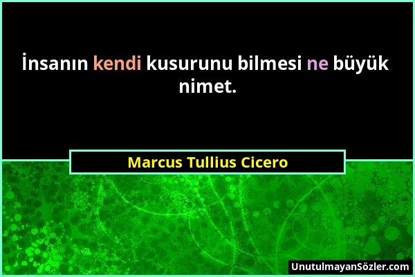 Marcus Tullius Cicero - İnsanın kendi kusurunu bilmesi ne büyük nimet....