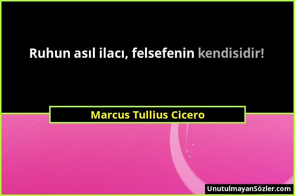 Marcus Tullius Cicero - Ruhun asıl ilacı, felsefenin kendisidir!...