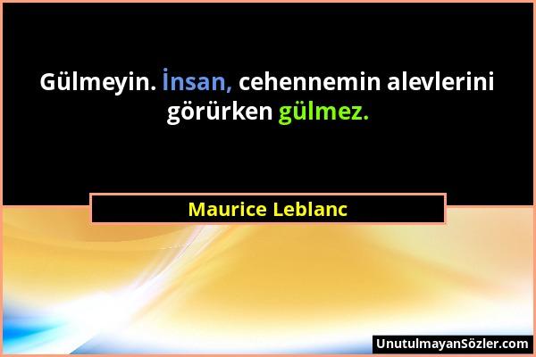 Maurice Leblanc Sözü 11