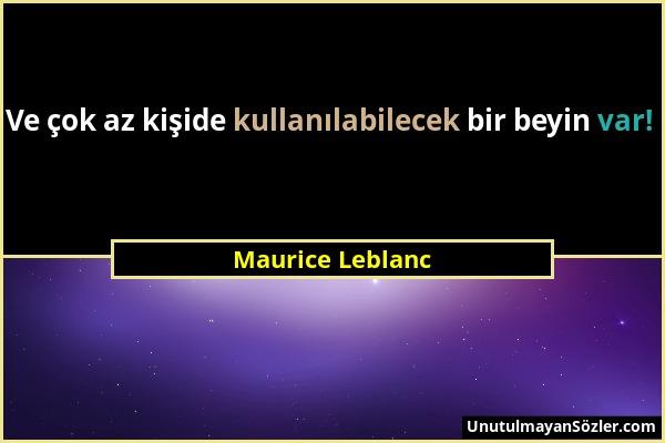 Maurice Leblanc Sözü 24