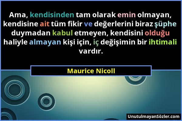 Maurice Nicoll Sözü 1