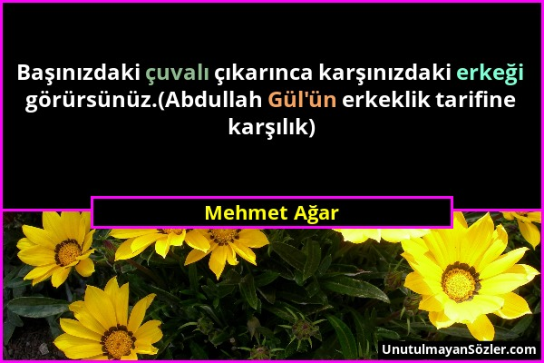 Mehmet Ağar Sözü 1