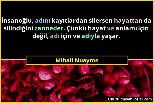 Mihail Nuayme Sözü 1