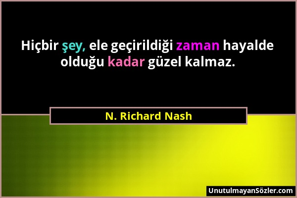 N. Richard Nash Sözü 1