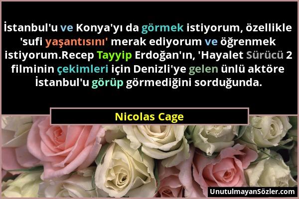 Nicolas Cage Sözü 1