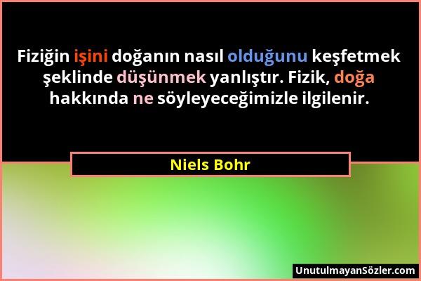 Niels Bohr Sözü 1