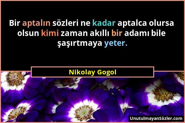 Nikolay Gogol Sözü 1