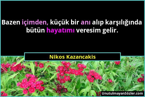 Nikos Kazancakis Sözü 1