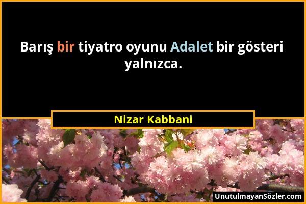 Nizar Kabbani Sözü 1