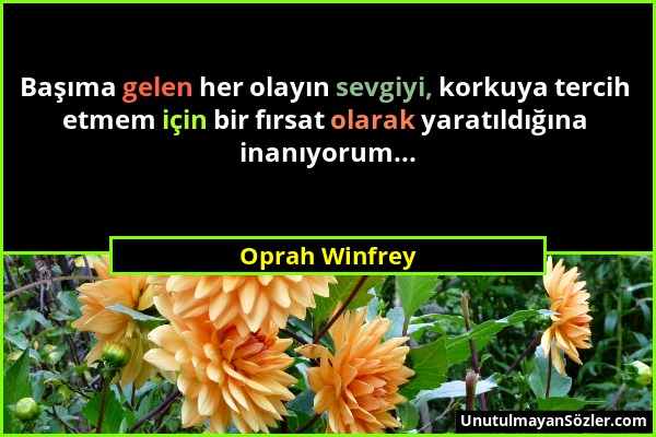 Oprah Winfrey Sözü 1
