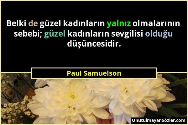 Paul Samuelson Sözü 1