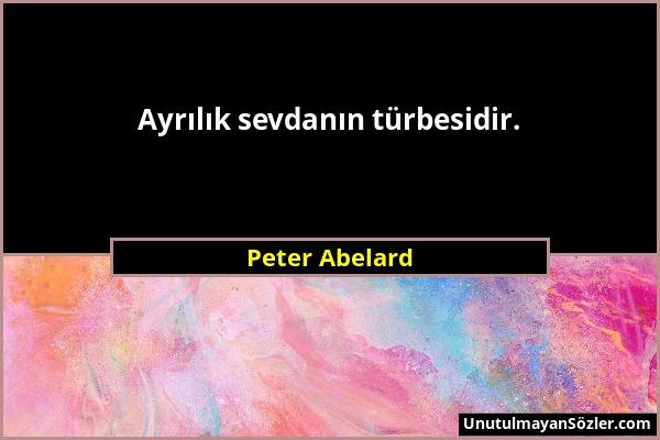 Peter Abelard Sözü 1