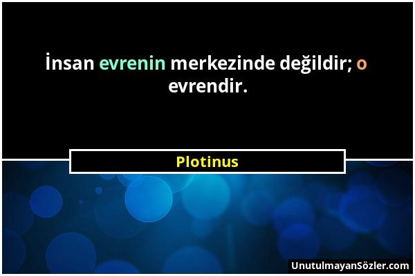 Plotinus Sözü 1