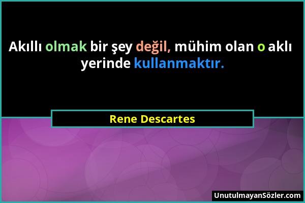 Rene Descartes Sözü 1