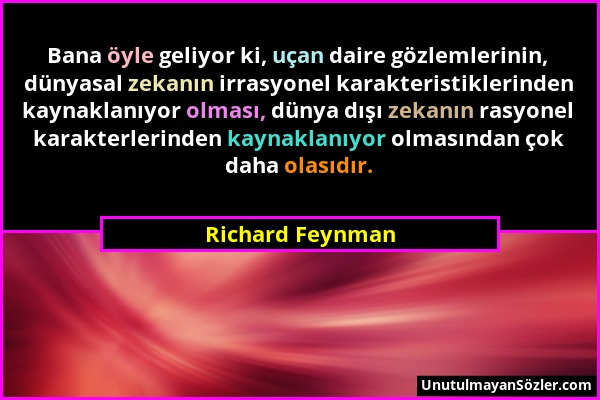 Richard Feynman Sözü 1