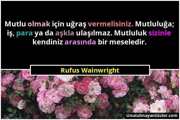 Rufus Wainwright Sözü 1