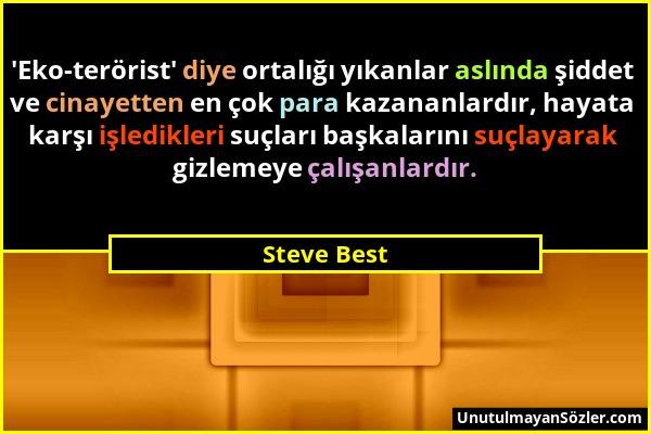 Steve Best Sözü 1
