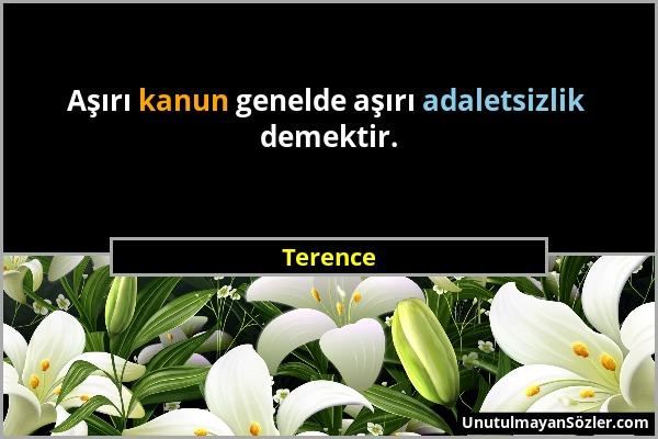 Terence Sözü 1