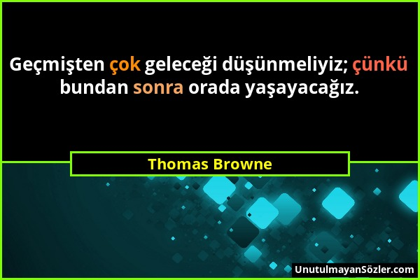 Thomas Browne Sözü 1
