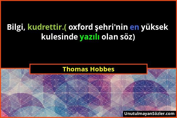 Thomas Hobbes Sözü 1