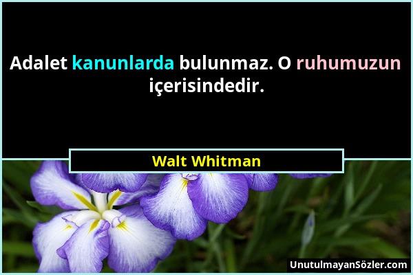 Walt Whitman Sözü 1