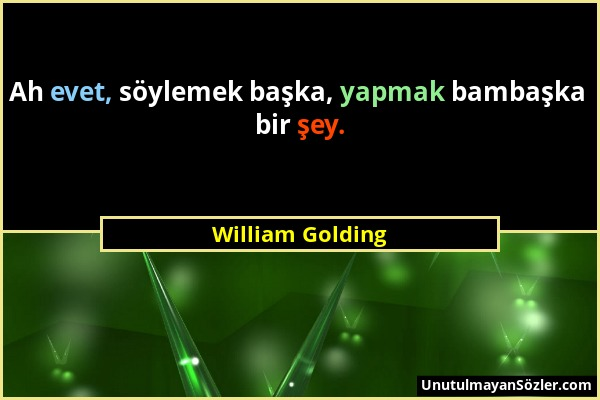 William Golding Sözü 1