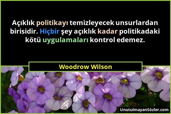 Woodrow Wilson Sözü 1